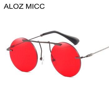 ALOZ MICC marca diseñador gafas de sol redonda mujeres Retro personalidad  sin límites estilo caliente gafas de sol de aleación marco UV400 Q227 77dcab04da58