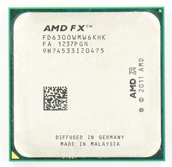 AMD FX 6300 AM3 + 3.5 GHz/8 MB/95 W Sei Core CPU processore