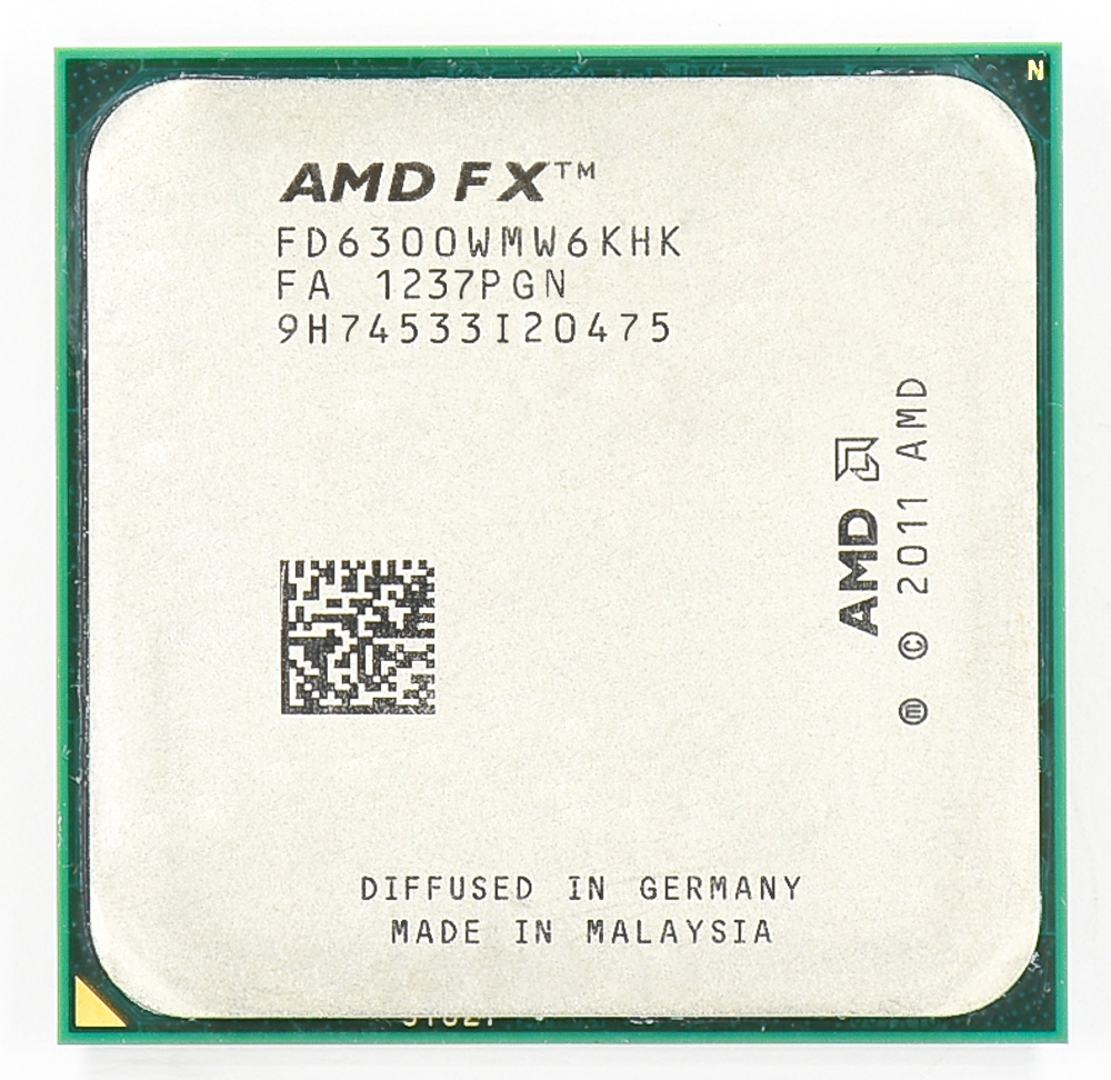 AMD FX 6300 AM3 + 3.5 GHz/8 MB/95 W שש ליבת מעבד מעבד title=