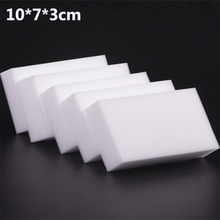 10x7x3cm 50 pcs/lot high quality Magic Sponge Eraser Melamine Cleaner for Kitchen Office Bathroom Cleaning(China)