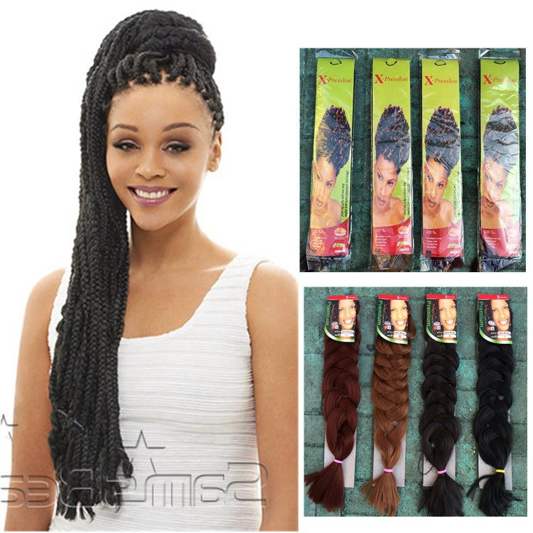 Rushed Cabelo 3pcslot Ombre Kanekalon Braiding Hair