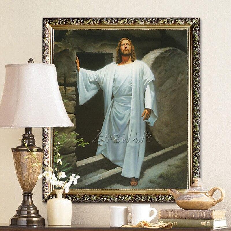 ộ_ộ ༽Jesucristo alta calidad Decoración para el hogar pintura al ...