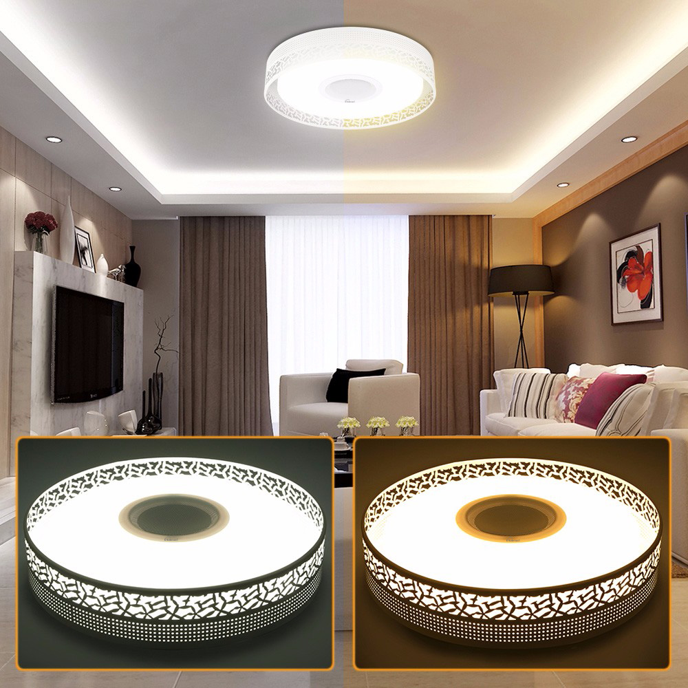 2018 Hot Sale ILifeSmart 4160LM LED Music Flush Mount Ceiling Light Bluetooth 4.0 Control Recessed Fixture Lamp J4