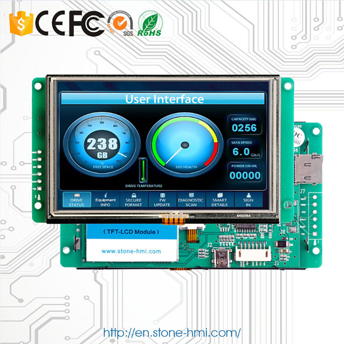 5.0 Inch New Sunlight Readable LCD Screen With PCB Board And MCU TTL/USB Interface Use In Charging Station5.0 Inch New Sunlight Readable LCD Screen With PCB Board And MCU TTL/USB Interface Use In Charging Station