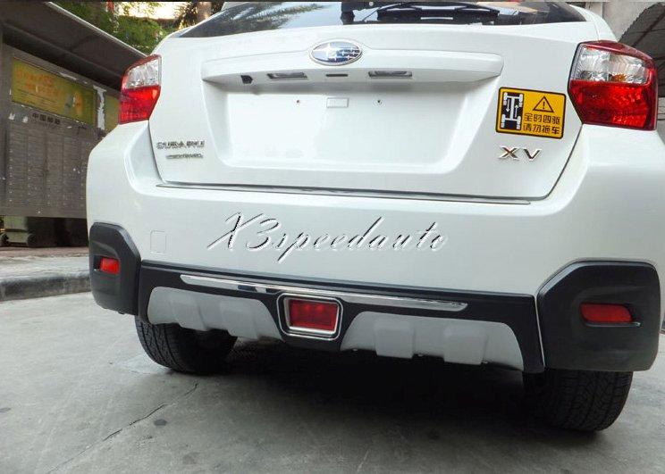 Pare-choc protection ABS Noir Pour Subaru XV SUV 2012