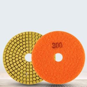 Image 5 - Diamond Polishing Pads Kit 4 inch 100mm Wet Dry Granite Stone Concrete Marble Polishing Grinding Discs Set