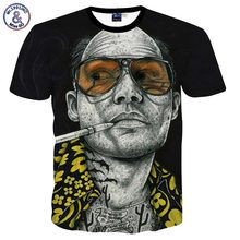 2017 Mr.1991INC New Arrivals Tshirt Men/ladies Summer Tops Tees Print Glasses Smoking Star 3d T-shirt Fashion Plus 3XL 4XL