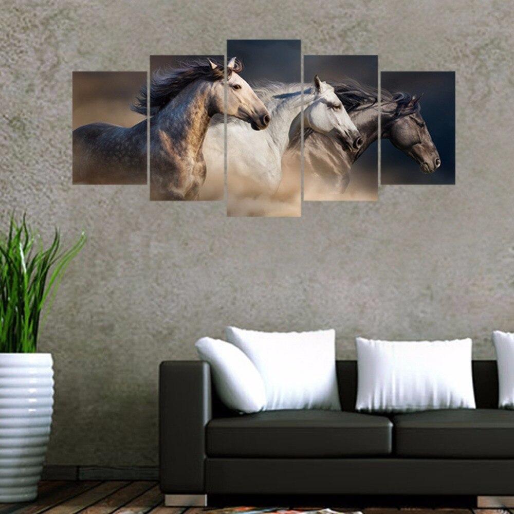 Home Decor Sofa Set: Aliexpress.com : Buy 5pcs/set 3D Galloping Horse