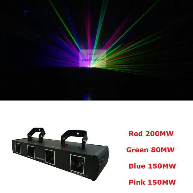Wholesale High Quality 4 lens 580mW RGBP DMX Laser Projector Disco DJ Stage Party Lighting Professional 4 Heads Beam Wash Lights