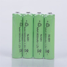 10pc a lot Free shipping  AAA 1800mAh 1.2 V Quanlity Rechargeable Battery AA NI-MH 1.2V 2A Baterias Bateria