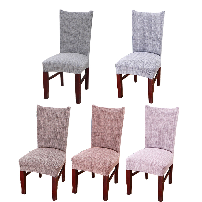 Spandex Stretch Dining Room Chair Covers With Backrest Elastic Kitchen Chair Case Protector Slipcovers Universal Seat Cover