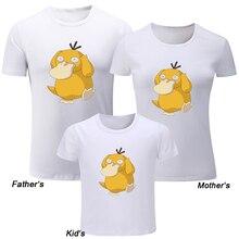78728e04 Cartoon Pokemon Psyduck Design Family Day T-shirts Mens Printing Raglan T  shirt Womens Graphic
