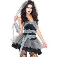 Ms. role playing game uniforms Halloween cosplay demon ghost zombie vampire bride costume lady role playing sexy short skirts
