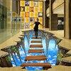 Free Shipping 3D Stereoscopic Illusion Paintings Wall Painted Murals Graffiti Art 3D Diamond Waterfall Wallpaper Mural
