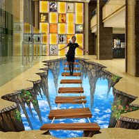 beibehang Free Shipping 3D stereoscopic illusion paintings wall painted murals graffiti art 3D Diamond waterfall wallpaper mural