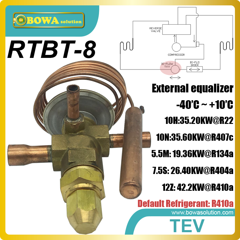 12RT (R410a) cooling capacity expansion valve(TEV, TVX, TX valves) with ODF connection is used in cold and warm air conditioner r410a compressor 940w cooling capacity suitable for cooling equipments in medical imaging system