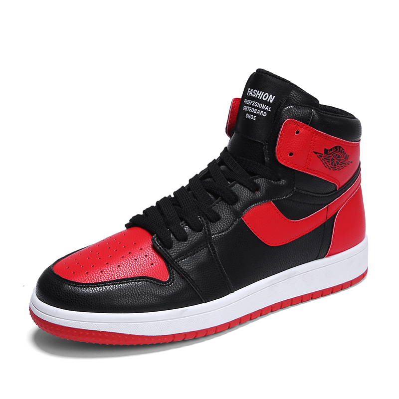 New Trend Aj1 Men's Shoes Chicago Black Board Shoes Air Force No. 1 Hip Hop Sneakers High Top Vulcanize Sneakers Outdoor Sports chicago top 10