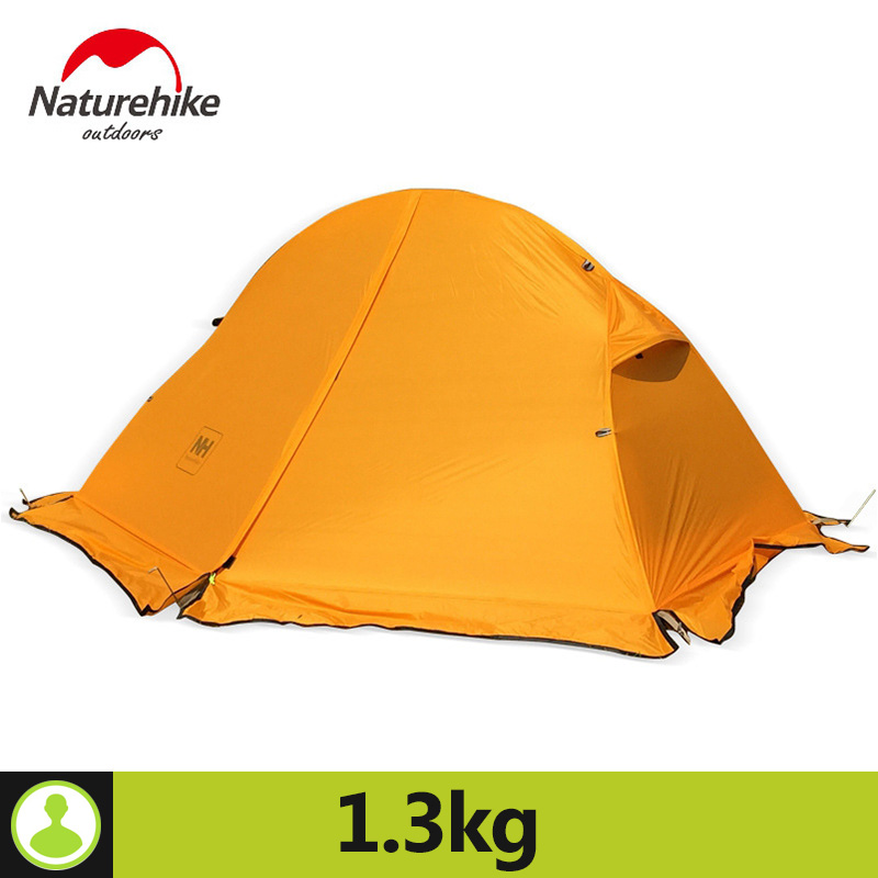 Naturehike 1 Person Tent With Camping Mat 20D Silicone Fabric 4 Season Ultralight Double Layers Aluminum Rod Tent 1.3kg 1.5kg naturehike 3 person camping tent 20d 210t fabric waterproof double layer one bedroom 3 season aluminum rod outdoor camp tent