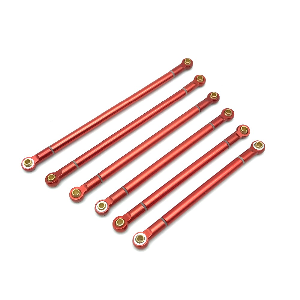 1PCS Upgrade Parts 90MM-130MM Red Metal Link Rod for 1/10 RC Crawler Axial SCX10 RC4WD D90 игрушка ecx crawler temper red white ecx00012t1