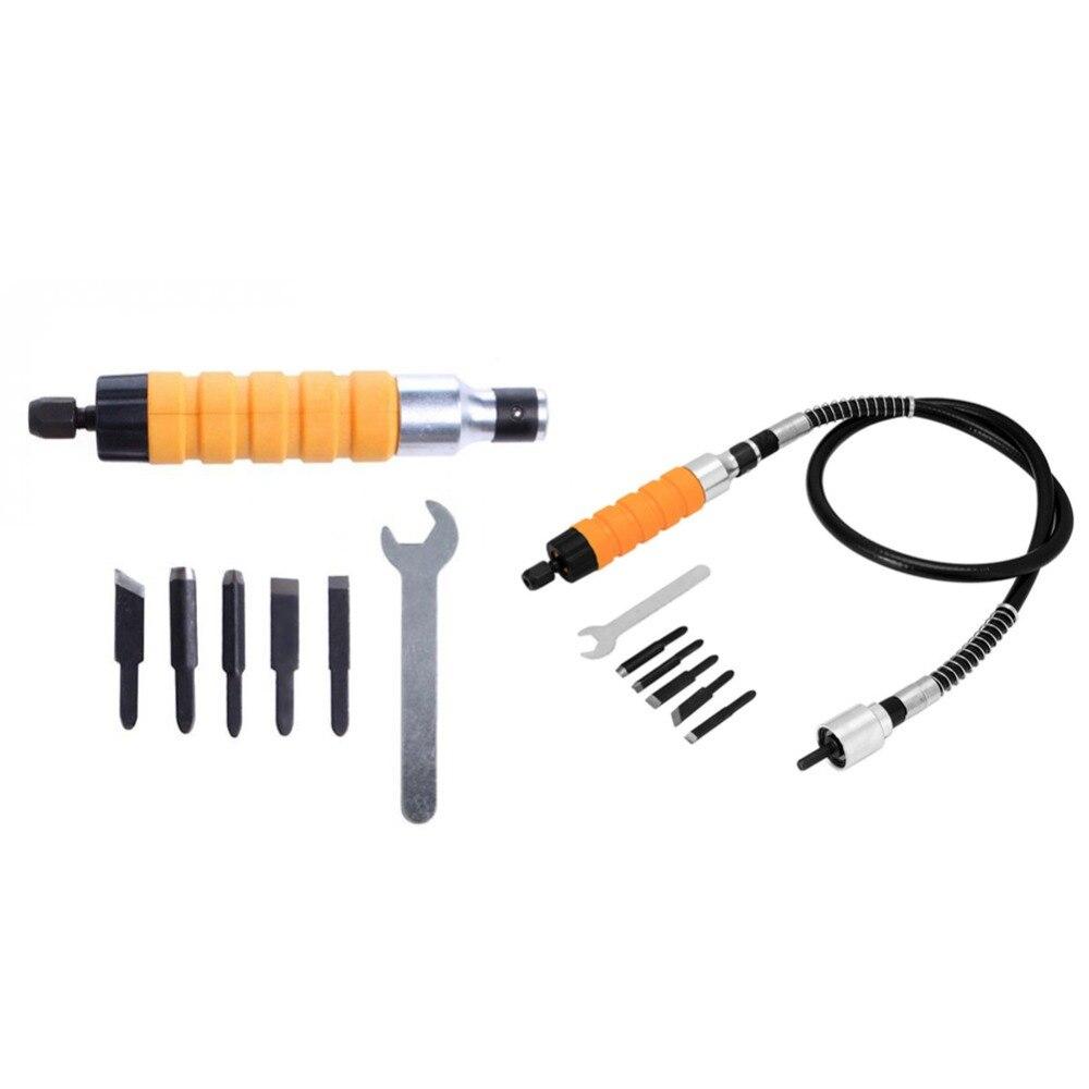 1 satz Holz Meißel Carving Werkzeug Set Flexible Flex Welle Schlüssel Elektrische Meißel + 5 Carving Tipps für Holz Möbel