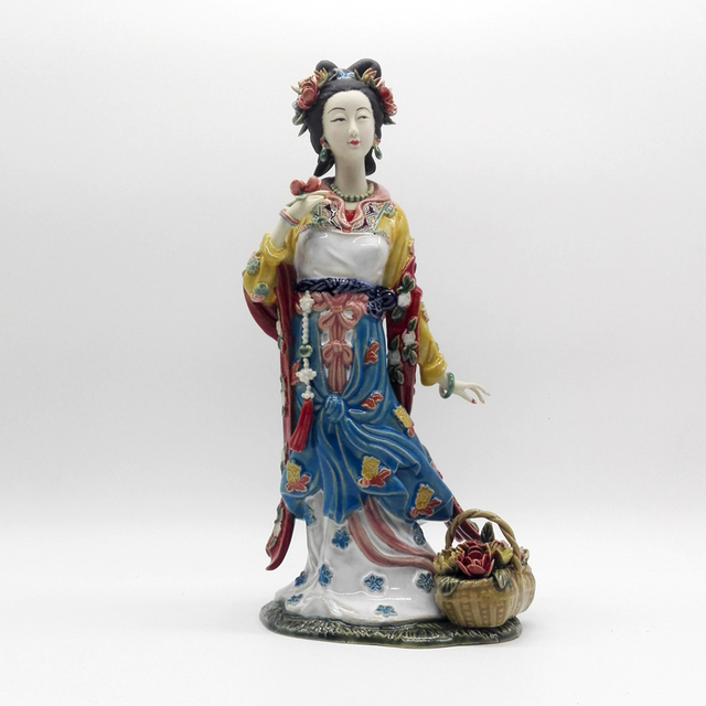 Hot Sale Modern Collectible Vintage Porcelain Antiques Statues Marvel Female Ceramic Figurine for Home Decor Gifts