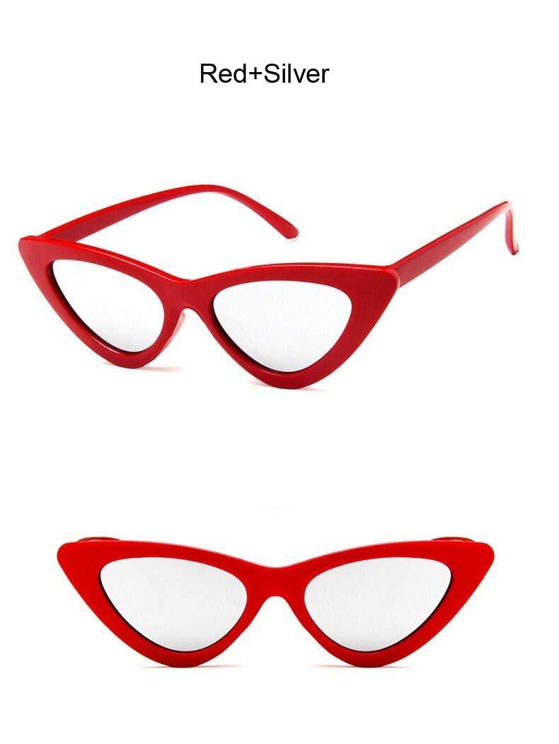 Vintage Cateye Sunglasses Sexy Retro Small Cat Eye Sun Glasses
