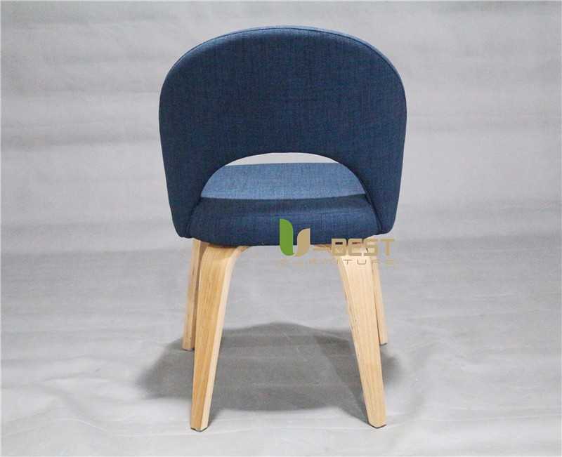 Executive Side Chair with wooden Legs by Saarinen (4)