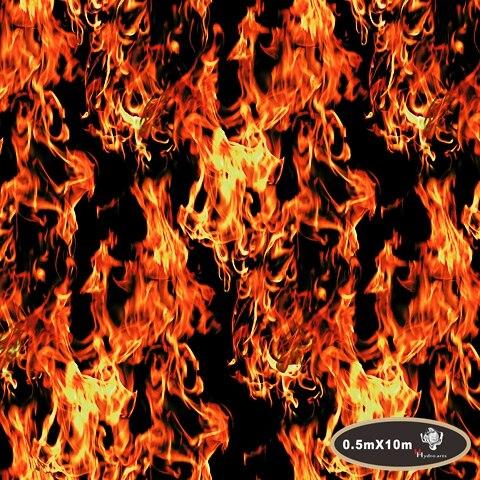 Free shipping flaming fire hydro/water transfer printing hydrographic film  50cm aqua print HFD048