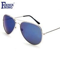 FOENIXSONG Brand New Ladies Pilot Sunglasses Unisex Women Vintage Eyewear Silver Frame Gafas Aviator Sun Glasses