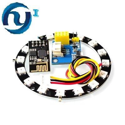Intelligente Esp8266 Esp-01 Esp-01s Rgb Ha Condotto Il Regolatore Modulo Per Arduino Ide Ws2812 Ws2812b 16 Bit Anello Di Luce Elettronico Intelligente Fai Da Te