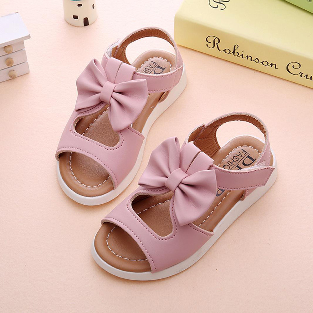 Toddler Kids Shoes Girls Beading Shoes Princess Crown Sandals Single Shoes H4