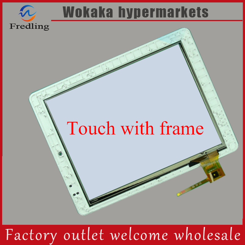 For 9.7 INCH Teclast P98 dual core P98 quad core touch screen panel 097089-01A-V1 external screen Free shipping 98 inch monitor ir touch screen 2 points infrared touch screen panel ir touch screen frame overlay with usb