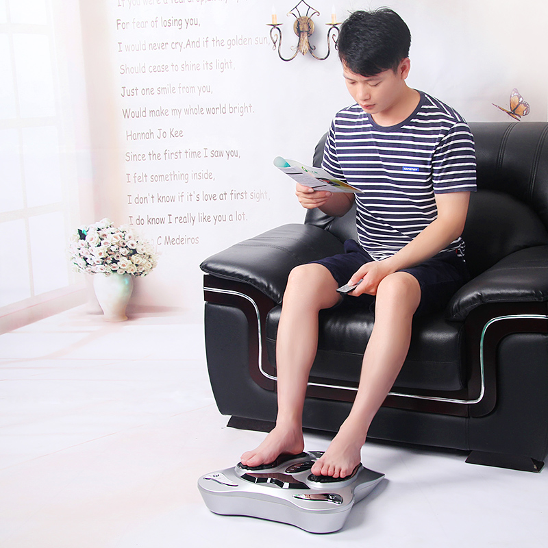 Electric foot massager with heat function low Frequency electrical stimulation blood circulation massage Health Care health care infrared heating therapy foot massage machines foot sole blood circulation stimulation electric foot massager