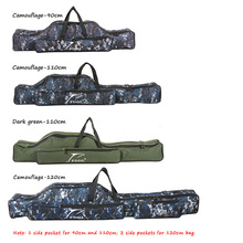 90/110/120cm Canvas Fishing Bag Outdoor Multi-Purpose Fishing Rod Carrier Storage Bag Large Capacity Bags Fishing Tackle Pesca