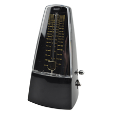 Pyramid Tempo Metronome Music Piano Beat Mechanical Top in Black