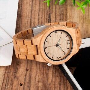 Image 3 - ボボ鳥メンズ腕時計木製竹クォーツ男性腕時計発光手とフル竹バンドギフトボックス時計