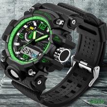 New Men Sport Watch SANDA Top Luxury New Brand Digital Military Watch S-Shock Hodinky Men Analog Quartz Watch Relogio Masculino