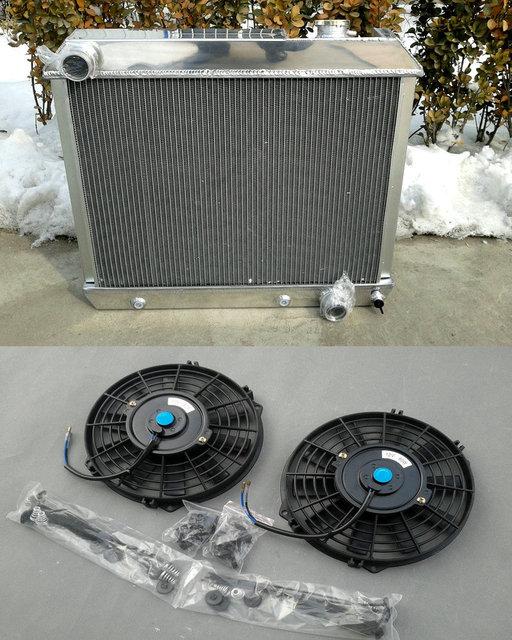 3 Row Full Aluminum Radiator 210 Fans For 1963 1966 Chevy Truck