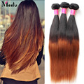 Grade Ombre Malaysian Virgin Hair Straight 3 Bundles Malaysian Straight Virgin Hair Two Tone Malaysian Human Hair Straight Weave