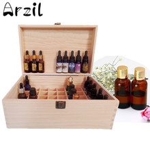 40 Grids Holz Box Ätherisches Öl Flasche Zubehör 15 ml Und 100 ml Lagerung Flasche Gläser Hygiene Aufbewahrungsboxen Bins