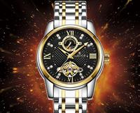 Qualidade superior Homens Mecânicos Turbilhão Relógios Montre Homme CAROTIF Marca Vestido de Relógios de Luxo Homens De Aço Inoxidável Relógios Reloj|Relógios mecânicos| |  -