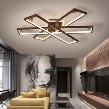Современные светодиодные потолочные лампы для Гостиная кабинет Спальня 110V 220V lamparas de techo современный светодиодный затемнение светодиодный потолочный светильник