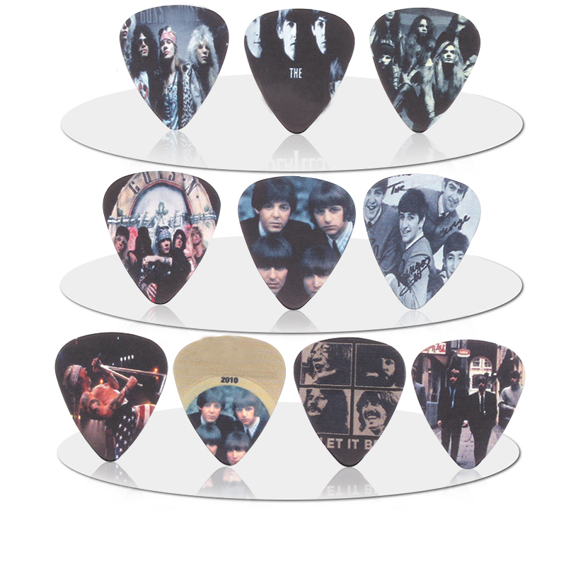 10pcs 0.71mm Beatles Mana Guns N 'Roses band quality two side earrings Accessories pick DIY design guitar  pick guitar picks
