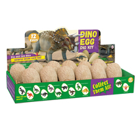 Surwish Simulation Dinosaur Eggs Excavation Toy Dino Egg Dig Kit Toy For Children Have Fun