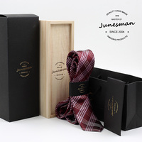 5cm red plaid formal business necktie men fashion kravat male wedding neckwear gent mariage neck tie husband gift with box