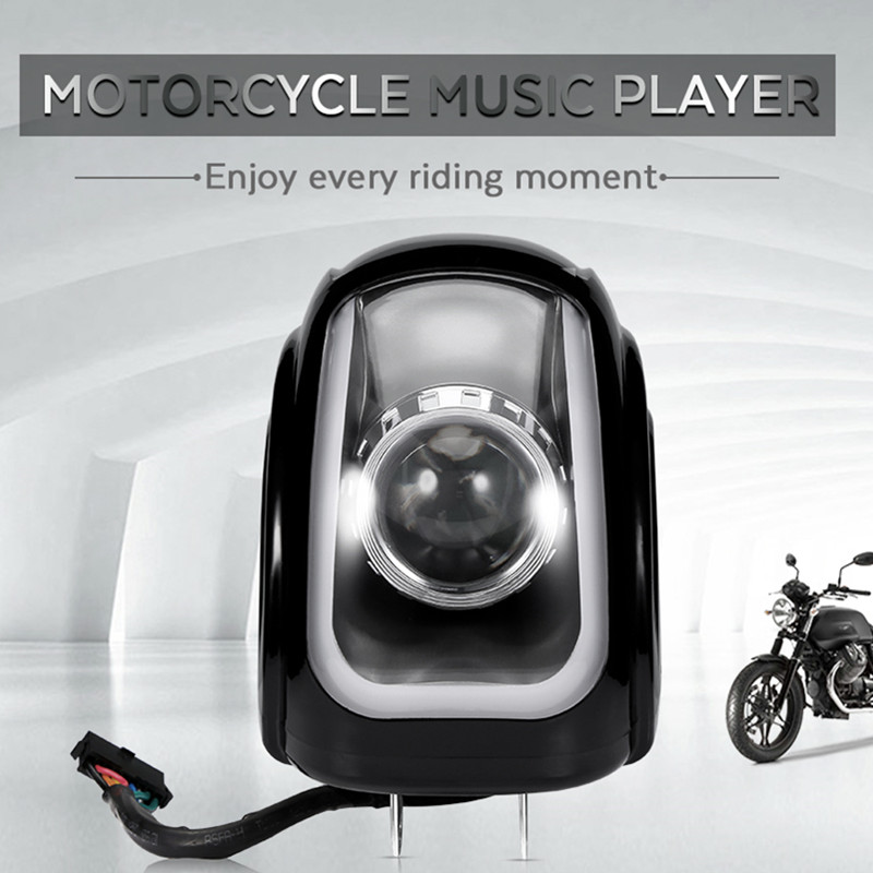 MT472 2PCS Motorcycle MP3 Music Player Motorbike Bluetooth Speaker FM Radio Bass Stereo Amplifier Waterproof Audio Player motorcycle mp3 music player speakers motorbike bluetooth stereo speaker fm radio waterproof adjustable bracket audio player