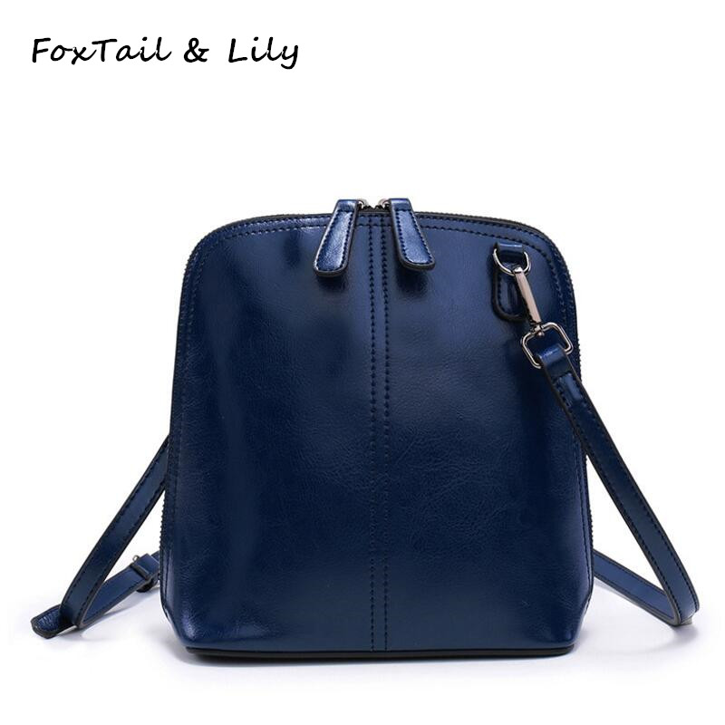 ФОТО FoxTail & Lily Composite Cowhide Ladies Small Shoulder Bag 2017 Women Messenger Bags Famous Brand Designer Mini Crossbody Bag