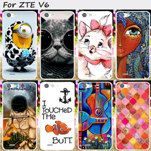 Mobile Phone Skin Case Cover For ZTE Blade X7 V6 D6  Cases Hard Plastic New arrived Cartoon Painted Luxury Phone Bags Housings