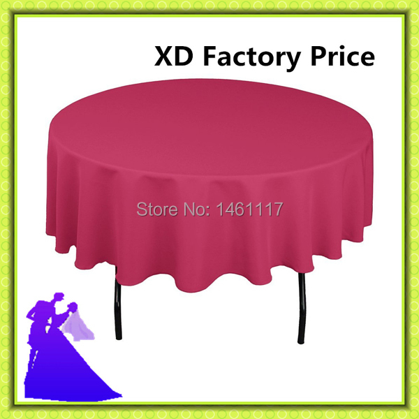 Free shipping 120 round hotel decoration polyester table cloth on sale