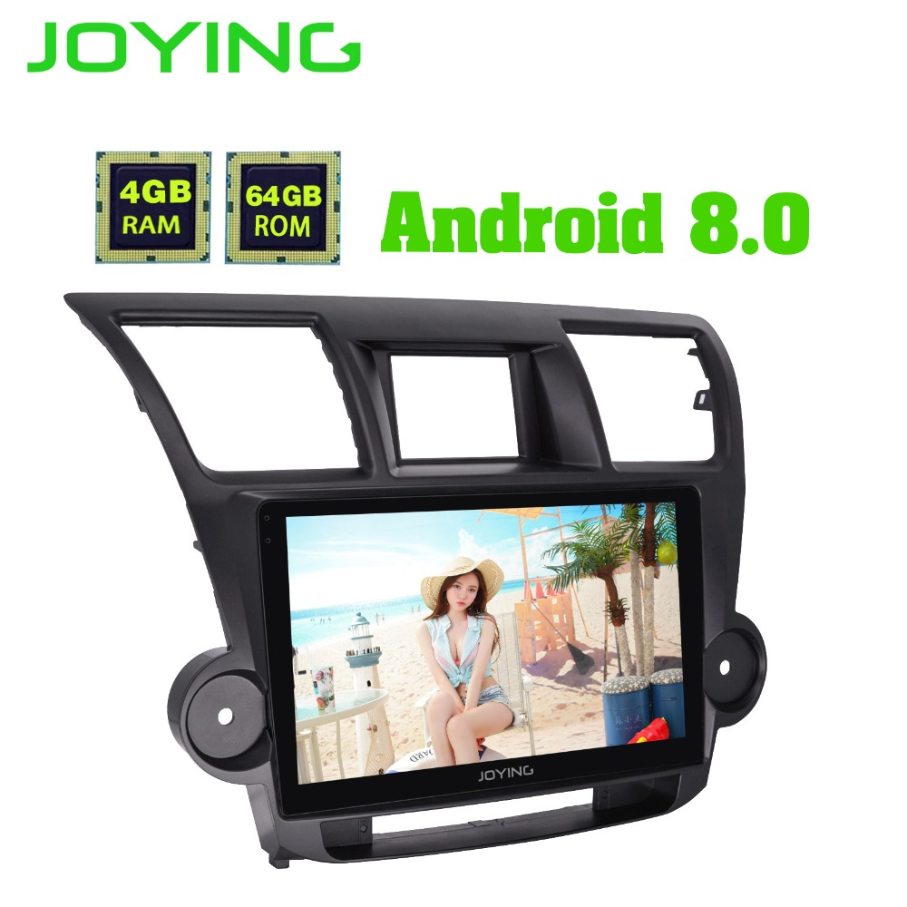 "IPS Joying 10.1"" Android 8.0 Car radio Stereo Audio Head Unit  GPS Navigation For Toyota Highlander 2009-2014 Multimedia Player"